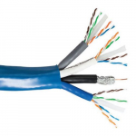 3x CAT6 23 AWG Shield Cable, Blue
