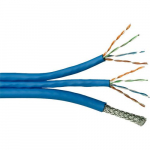 2x CAT5E 24 AWG 350 MHz Cable, Blue