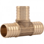 "1"" x 1"" x 1"" Lead Free PEX Barb Core Fitting Tee"