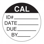 Circular Clear Cover Calibration Label, 1/2""