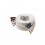 50' Ivory 5 x RCA Component Video/Audio Cable