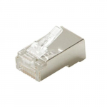 8C RJ45 CAT6A Round Solid Stranded Modular Plug