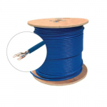 Blue UTP CM CAT6A Bulk Solid Cable, Spool, 1000 ft