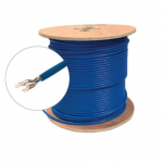 Blue UTP CMR CAT6A Bulk Solid Cable, Spool 1000 ft