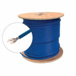 Blue UTP CMP CAT6A Bulk Solid Cable, Spool 1000 ft