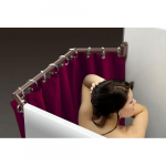 "Extend-A-Shower Shower Rod Fits 54"" to 60"" Oil Rubbed Bronze Color"