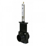 "2"" ABS Black MPT x MPT Ends Pneumatic Gate Valve"