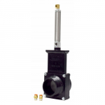 "2"" ABS Black FPT x MPT Ends Pneumatic Gate Valve"