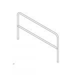 "Aluminum Pipe Safety Railing, 72"" Long"