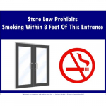 """State Law Prohibits Smoking"" Window Decal"