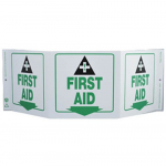 """First Aid"" Standard 3-Sided Safety Sign"