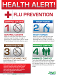 """General Flu Prevention"" Plastic Poster"