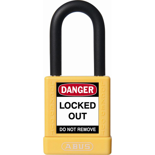 ABUS 74//40 MK Safety Lockout Non-Conductive Master Keyed Padlock with 1-1//2-Inch Shackle Black 74//40 MK Black 1-1//2 Shackle