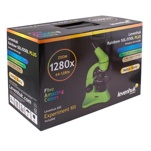 Levenhuk Rainbow D50L Plus 2M Digital Microscope Moonstone