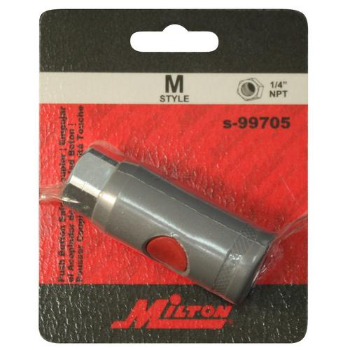 "Milton S-99705 1//4/"" FNPT M Style Safety Coupler"