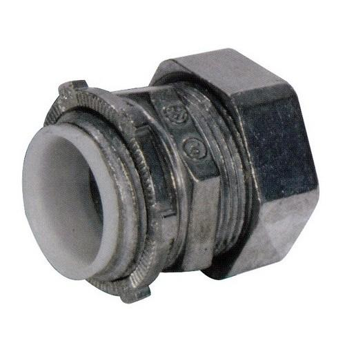 2-1//2 Trade Size Zinc Die Cast Insulated Throat Morris Products 14926 EMT Compression Connector