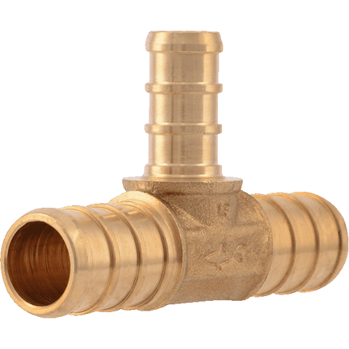 "1/"" x 1/"" x 1//2/"" PEX Tees Brass Crimp Fittings 10 LEAD-FREE"